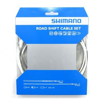 SHIMANO PTFE ROAD SHIFT CABLE & HOUSING SET WHITE