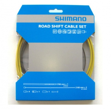 SHIMANO PTFE ROAD SHIFT CABLE & HOUSING SET YELLOW