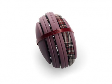 Brooks JB Special Carrera Foldable Helmet Red Mus Grey Tartan