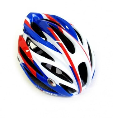 Caspie Super Light Cycling Helmet R-91 Wide Fit White Blue