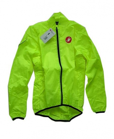 Castelli Squadra Long Jacket Bicycle Cycling Yellow