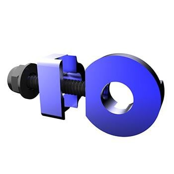PROMAX C-2 CHAIN TENSIONER 10mm x 1 AXLE HOLE BLUE