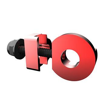PROMAX C-2 CHAIN TENSIONER 10mm x 1 AXLE HOLE RED