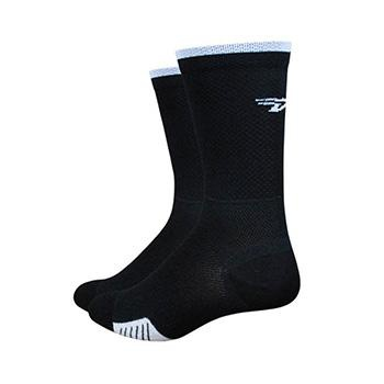 "Defeet Cyclismo 5"" Stripe Black/White Sock"