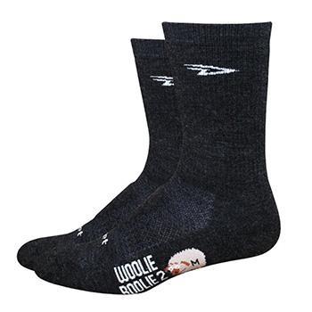 "Defeet Woolie Boolie 6"" D-Logo Charcoal Socks"