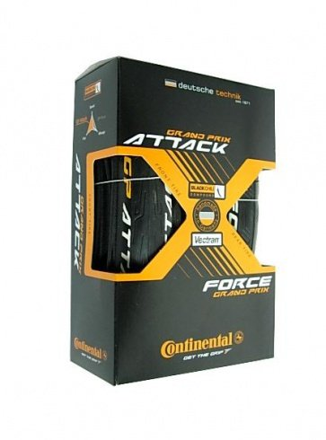 Continental GP Attack Force F-R BIke Tire Tyre Set