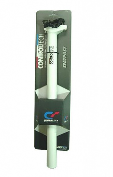 CONTROLTECH BICYCLE ALUMINUM SEAT POST ONE WHITE