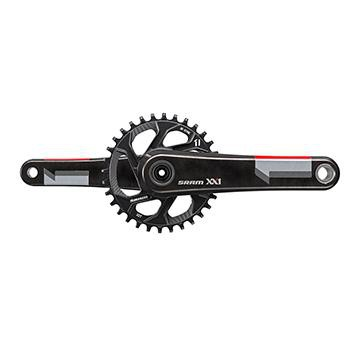 Sram XX1 Carbon GXP Q168 Boost Crank 32T Red