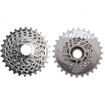 SRAM XG1090 11-25T X-DOME RED 10-SPEED CASSETTE