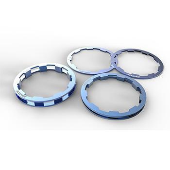 BOX ZERO SHIMANO COMP CASSETTE SPACERS 1-5mm BLUE