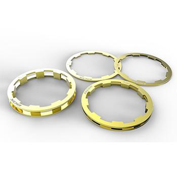 BOX ZERO SHIMANO COMP CASSETTE SPACERS 1-5mm GOLD