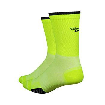 "DEFEET CYCLISMO 5"" STRIPE YELLOW/BLACK SOCK"