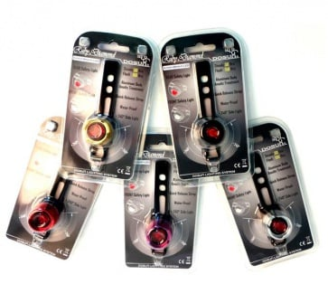 Dosun Ruby Bicycle Safety Lamp Red LED Rear 5colors