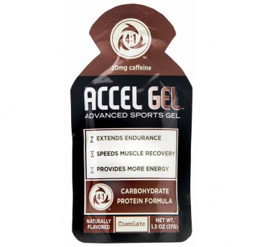 ACCEL GEL CHOCOLATE w/ CAFFEINE 24/BOX