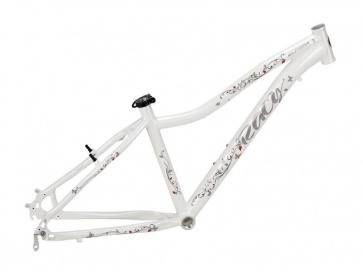 "Elfama Racy Womens Mountain Bike Frame White 26"" 1500g"