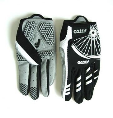 Fitto Bicycle Cycling Gloves EVA foam Black F-Wseason Long Finger