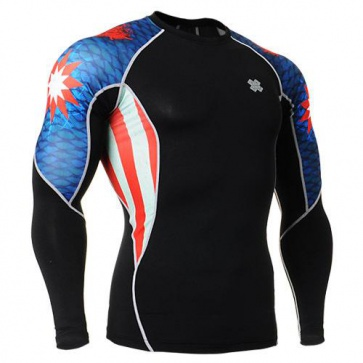 Fixgear Printed BaseLayer Compression Skin Top Tights C2L-B37-USGT