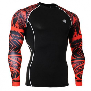 Fixgear Printed BaseLayer Compression Skin Top Tights CPD-B2-G