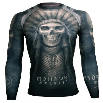 Btoperform Mohawk Spirit FX-102K Compression Top MMA Jersey Shirts
