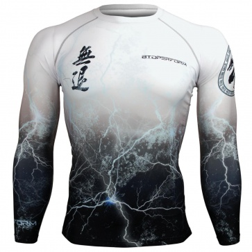 Btoperform No Retreat Thunder White FX-103W Compression Top MMA Jersey Shirts