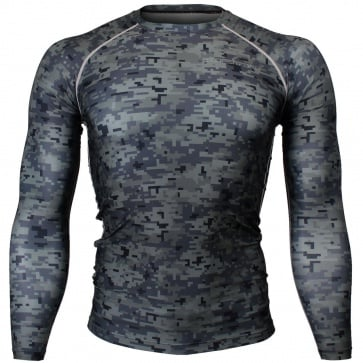 Btoperform Camo Black Full Graphic Compression Long Sleeve Shirts FX-111K