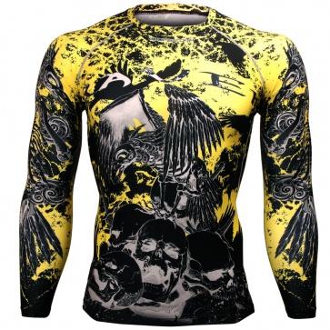 Btoperform Raven Skull FX-125 Compression Top MMA Jersey Shirts