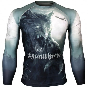 Btoperform Lycanthrope Full Graphic Compression Long Sleeve Shirts FX-126