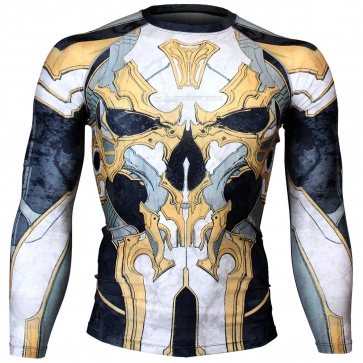 Btoperform Golden Army - Yellow Full Graphic Compression Long Sleeve Shirts FX-131Y