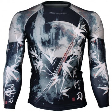 Btoperform Blade - Black Full Graphic Compression Long Sleeve Shirts FX-134K