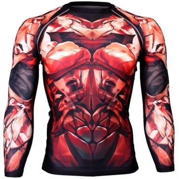 Btoperform Dark Knight - Crimson Full Graphic Compression Long Sleeve Shirts FX-135C