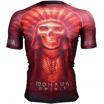 Btoperform Mohawk Spirit - Red Full Graphic Compression Short Sleeves Shirts FX-302R