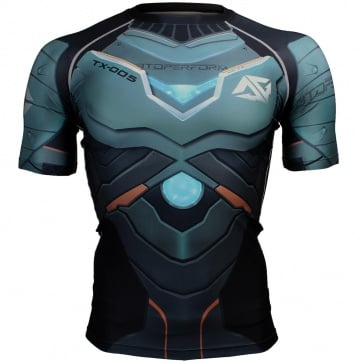 Btoperform Space Armour Full Graphic Compression Short Sleeves Shirts FX-305