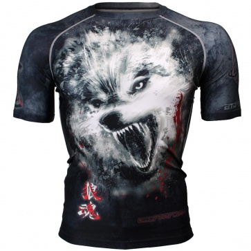 Btoperform Wolf Spirit Full Graphic Compression Short Sleeves Shirts FX-310