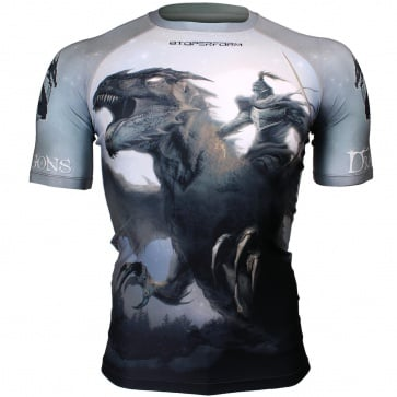Btoperform Dragon Knight  Full Graphic Compression Short Sleeves Shirts FX-314