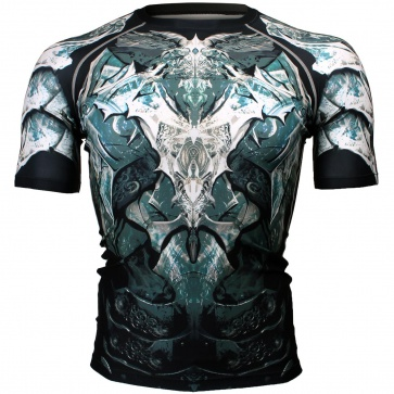 Btoperform Angel Knight Full Graphic Compression Short Sleeves Shirts FX-317