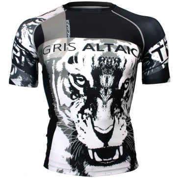 Btoperform Tigris Altaica Full Graphic Compression Short Sleeves Shirts FX-324