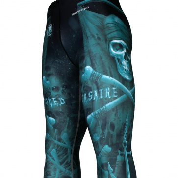 Btoperform Marooned Corsaire FY-112 Compression Leggings Bottom MMA Tights