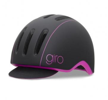 Giro Reverb Urban Cycling Helmet Matt Black Magenta