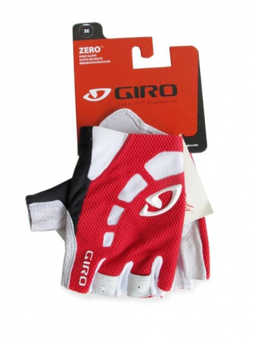 Giro Zero Bicycle Cycling Gloves Half Fingers Red White