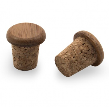 PDW BAMBOO CORK BAR END PLUGS ROAD