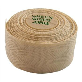 GREEN GRIPS ECO-FRIENDLY BAR TAPE WITH 2 WOODEN CORK END PLUGS NATURAL