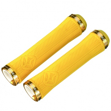 GRAVITY LOCK-ON GRIPS 140mm YELLOW