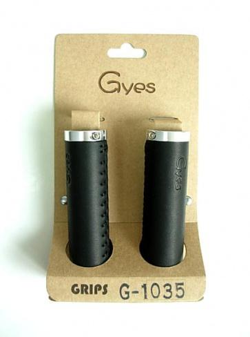 Gyes G-1035 Leather Grips Handmade 130mm Black