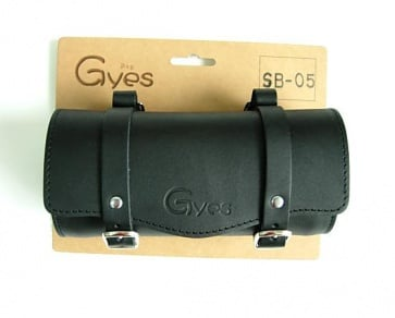 Gyes SB-05 Bicycle Leather Seat tool bag black
