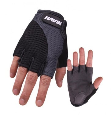 Havik 531 Meshfull Half Finger Gloves Sponge Pads Gray Black
