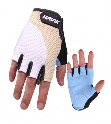 Havik 533 Meshfull Half Finger Gloves Sponge Pads White
