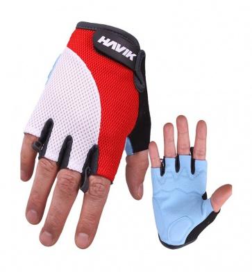 Havik 535 Meshfull Half Finger Gloves Sponge Pads Red White