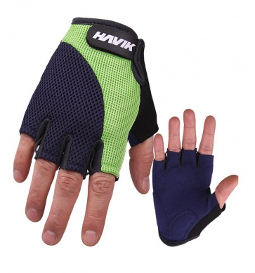 Havik 536 Meshfull Half Finger Gloves Sponge Pads Green Navy