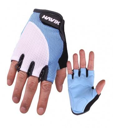 Havik 537 Meshfull Half Finger Gloves Sponge Pads Blue White