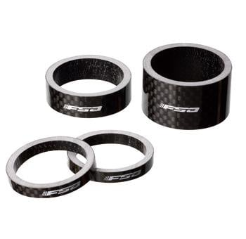 "FSA HEADSET SPACER 1""x10mm CARBON BAG/1"
